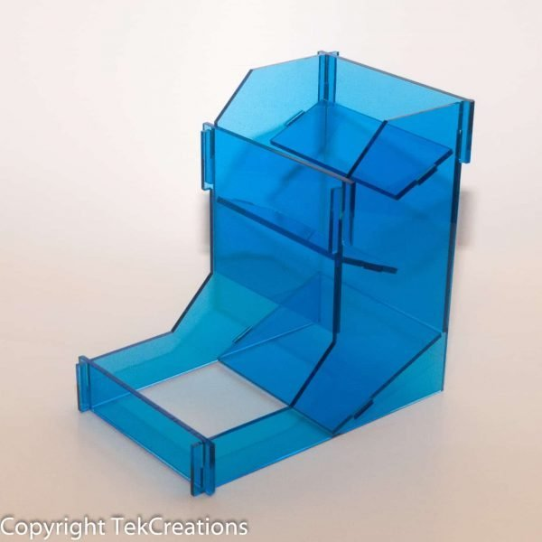 Acrylic Dice Tower Blue